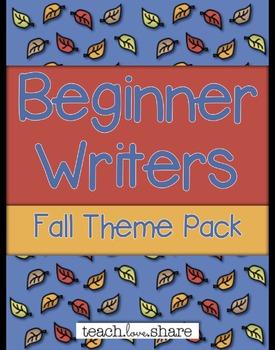 Beginner Writers Fall Theme Pack