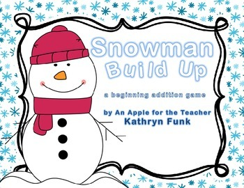 Build-A-Snowman Math addition game with QR codes for self