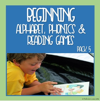 Beginning Alphabet, Phonics and Reading Games and Puzzles Pack 5