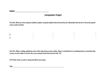 Beginning Band Composition Project