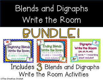 Beginning Blends, Ending Blends, and Digraphs Write the Ro