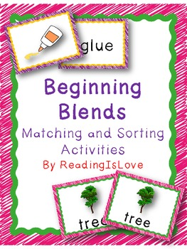 Beginning Blends Matching and Sorting Activities