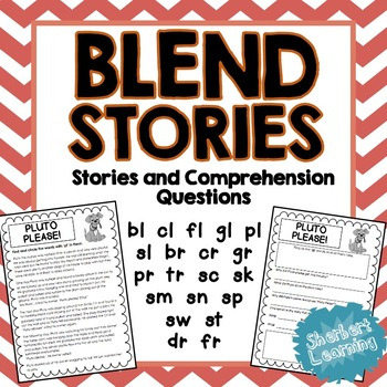Beginning Blends Stories - Reading Comprehension Passages