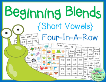 Beginning Blends with Short Vowels: Four In A Row