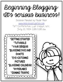 Beginning Blogging: It's serious business! {Session Handout T13}