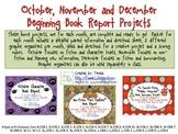 Beginning Book Report Projects (Oct. Nov. Dec.)