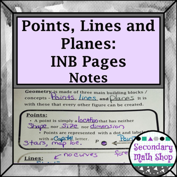 Beginning Concepts - Points, Lines and Planes Interactive