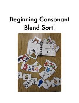 Beginning Consonant Blend Sort (ch- sh- th- wh-)