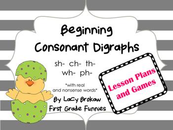 Beginning Consonant Digraph board games sh ch th ph wh