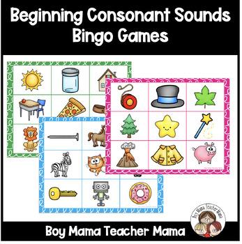 Consonant Sounds Bingo