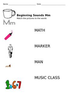 Beginning Consonants M