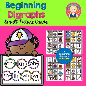 Beginning Diagraphs - Picture Cards {For Small Pocket Charts}