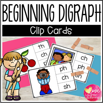 Beginning Digraph Clip Cards!
