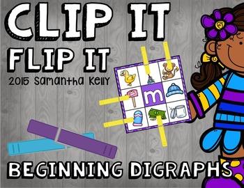 Beginning Digraphs Clip and Flip Station