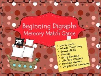 Beginning Digraphs Memory Game (Phonics)