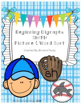 Beginning Digraphs SH/PH Picture & Word Sort