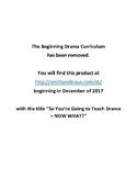 Beginning Drama Curriculum