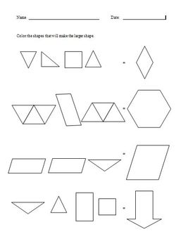 Beginning Elementary Geometry - Shape Equivalents A