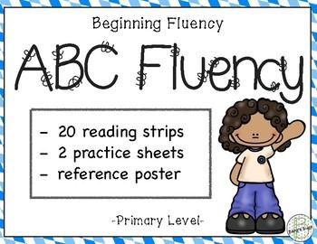 Fluency Alphabet Cards  {Primary Level}