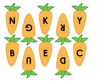 Beginning Letter Carrot Match