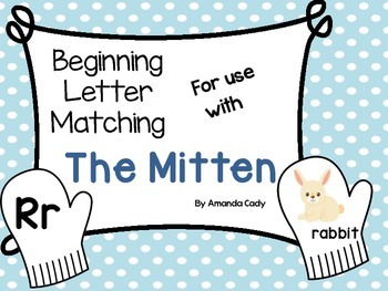 Beginning Letter Matching with The Mitten
