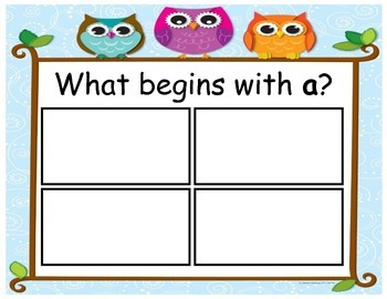Beginning Letter Picture Match Game for RTI Intervention o