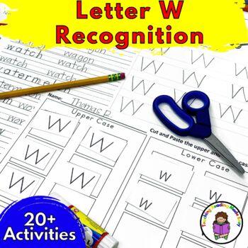 Beginning Letter Sound Worksheets & Activities: Letter W