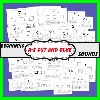 Beginning Letter Sounds (A - Z)  worksheets