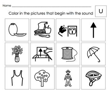 Beginning Letter Sounds Activities: Letters S,T,U (short),