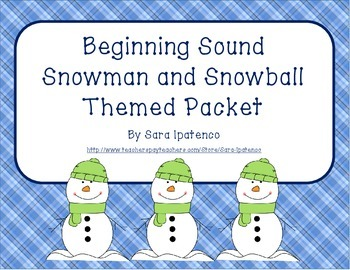 Beginning Letter Sounds Phonics Practice Packet - Snowman
