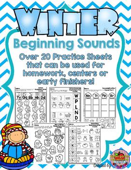 Beginning Letter Sounds Winter Theme