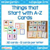 Beginning Letters A-Z Cards