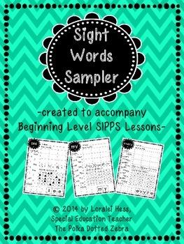 Beginning Level SIPPS Sight Words Sampler