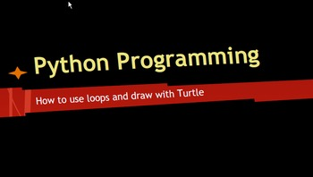 Beginning Loops Using Turtle Python Coding Lesson