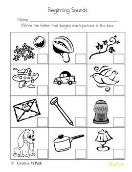 Worksheets Beginning And Ending Sounds Worksheets beginning middle ending sounds worksheets by cindy park worksheets