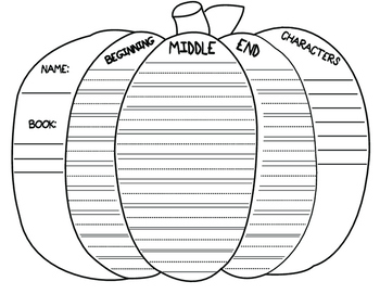 Beginning, Middle, and End Pumpkin (with lines)