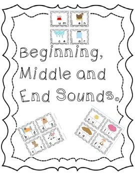 Beginning, Middle and End Sounds Bundle