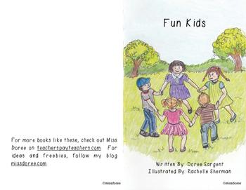 """Beginning Reader Book:  """"Fun Kids"""""""