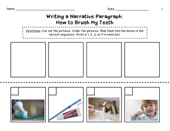 Beginning Sequence Paragraph - How to Brush My Teeth