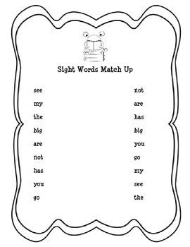 Beginning Sight Words Packet