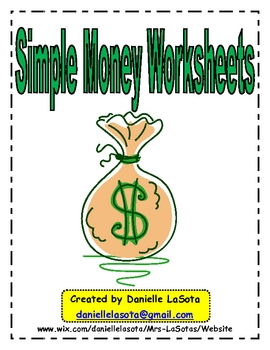 A whole LOOT of money worksheets, in order. turtlediary.com ...