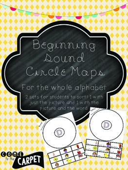 Beginning Sound (A-Z) Circle Map Sorts