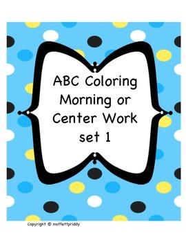 Beginning Sound ABC morning or center work bundle