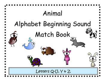 Beginning Sound Animal Match Adapted Book 3