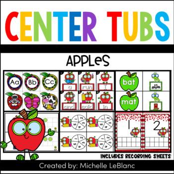 Kindergarten Beginning Sound Center Apple Theme Sample