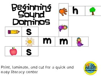 Beginning Sound Dominos