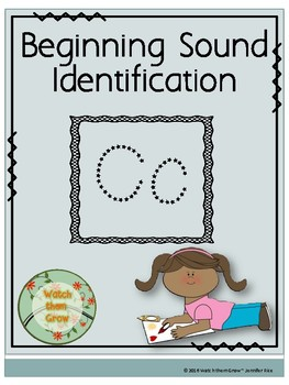 Beginning Sound Identification ~ Letter C (Color the pictures)
