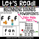 Beginning Sounds Interactive Powerpoints {Let's Read Sound