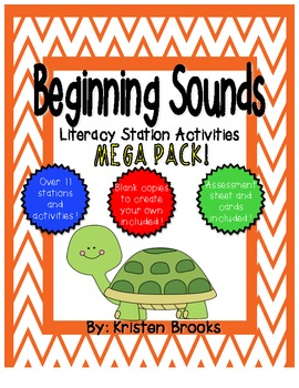 Beginning Sound Literacy Station Activities Mega Pack