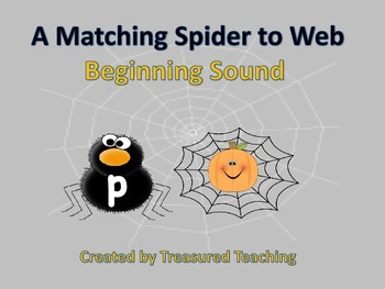 Beginning Sound Matching Spiders to Web Daily 5 Word Work